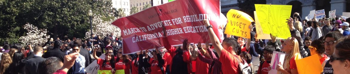 Foothill and De Anza College students at the March in March 2013