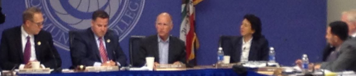 Governor Brown at the CCC Board of Governors meeting, May 2015